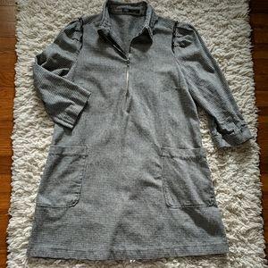 Zara Houndstooth Dress w/Pockets!